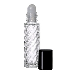 Glass Bottle 1/3oz Roll-on Swirl - As Low As 0.19!