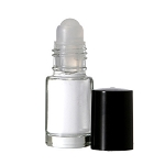 Glass Bottle 1/6oz (1 dram) roll-on - As Low As 0.25