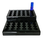 2 TIER 48 HOLE BLACK ACRYLIC DISPLAY FOR 1/3OZ ROLLONS