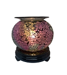Round Crackle Glass Electric Aroma Lamp